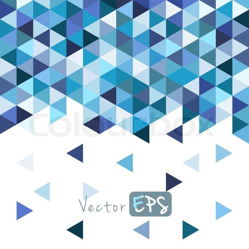 geometrische mosaik muster von blauen dreieck textur abstrakten hintergrund illustration. Black Bedroom Furniture Sets. Home Design Ideas