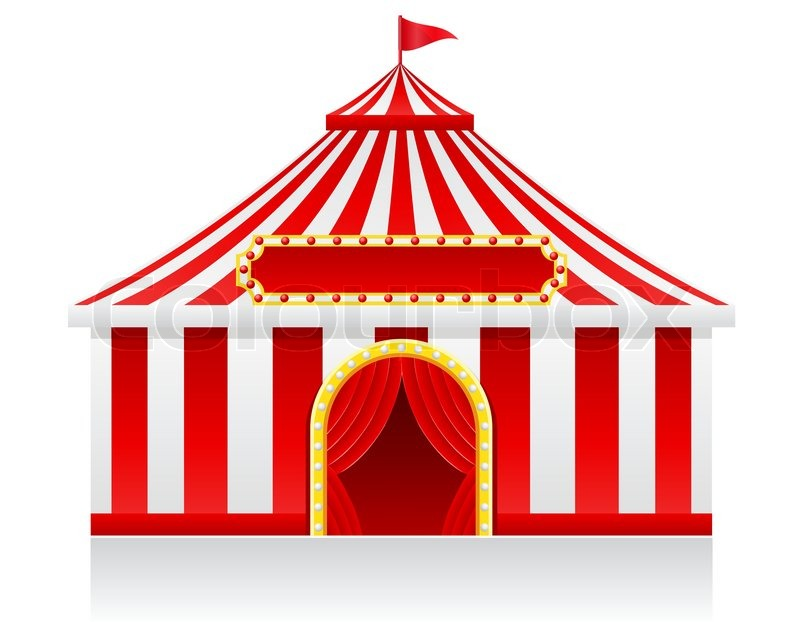 Circus Tent Vector Illustration Isolated On Background