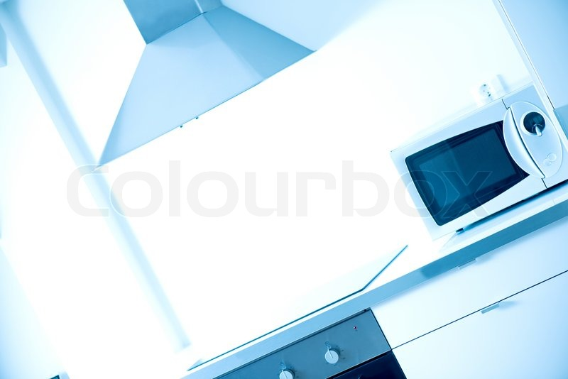 Modern kitchen high key, stock photo