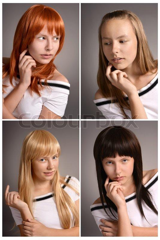 Andere Haarfarbe | Stock Bild | Colourbox
