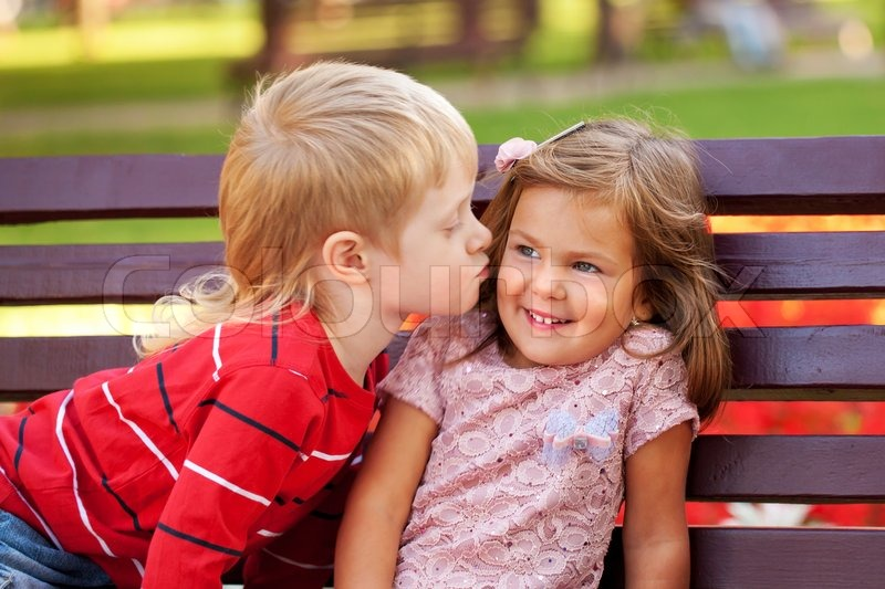 Little Couple In Love Outdoor Stock Photo Colourbox