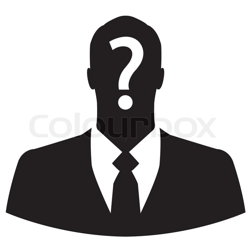 Businessman icon with question mark on his head | Stock ...