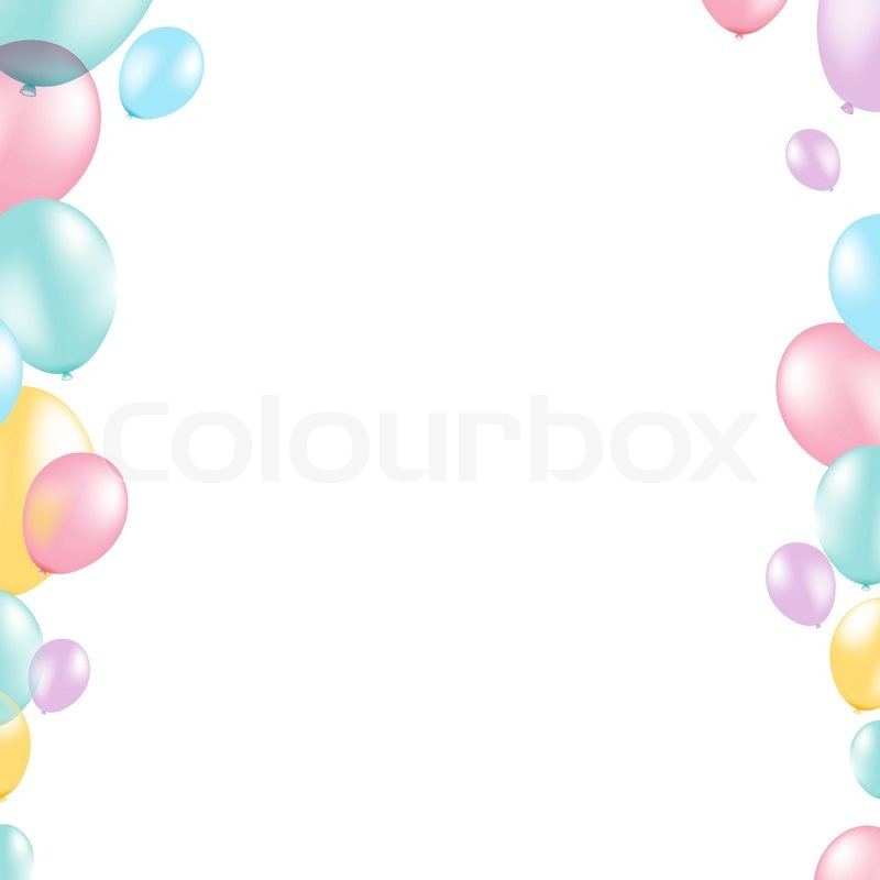 Pastel balloon border with gradient mesh vector illustration pastel balloon border with gradient mesh vector illustration vector thecheapjerseys Images