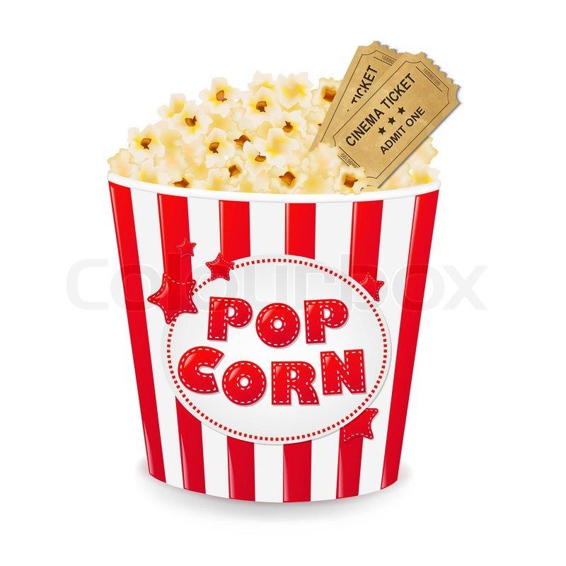 popcorn in cardboard box with tickets cinema with gradient clip art movie tickets and popcorn clipart cinema ticket