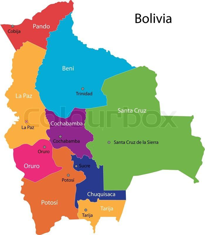 Bolivia Map Stock Vector Colourbox