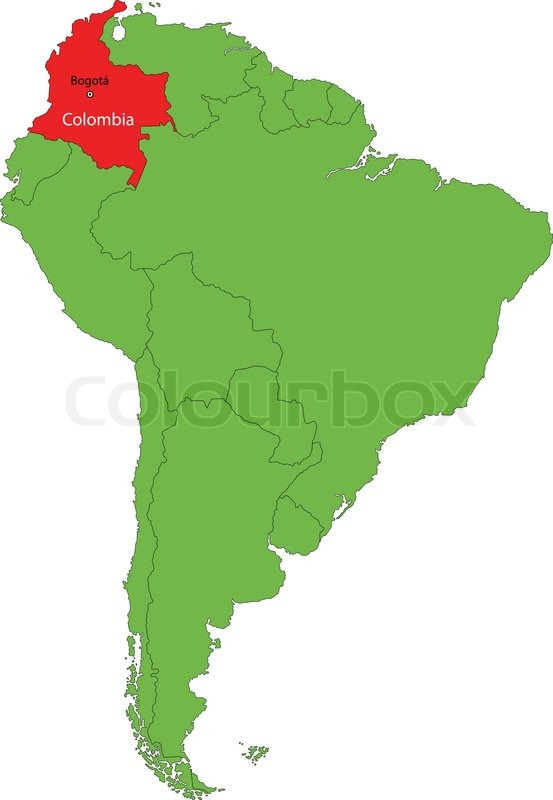 Colombia Map Stock Vector Colourbox