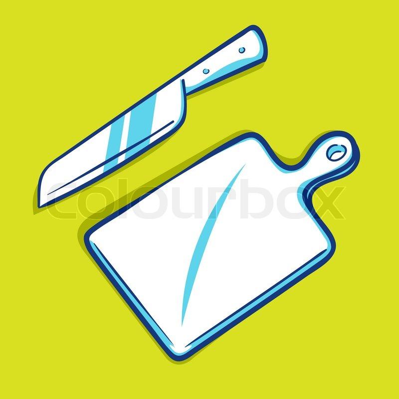 Schneidebrett clipart  Messer und Schneidebrett - blue-Serie | Vektorgrafik | Colourbox