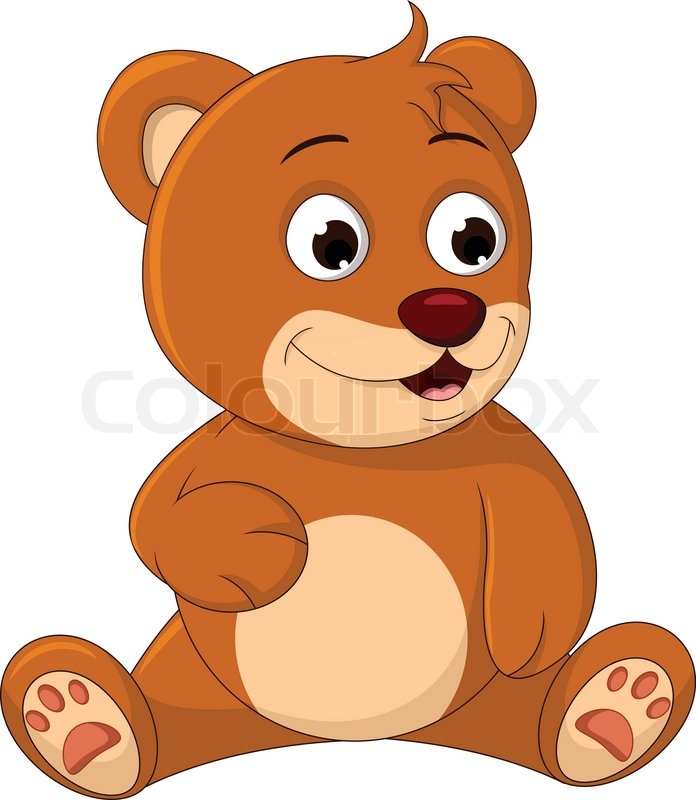 Cute Bear cartoon posing | Stock Vector | Colourbox