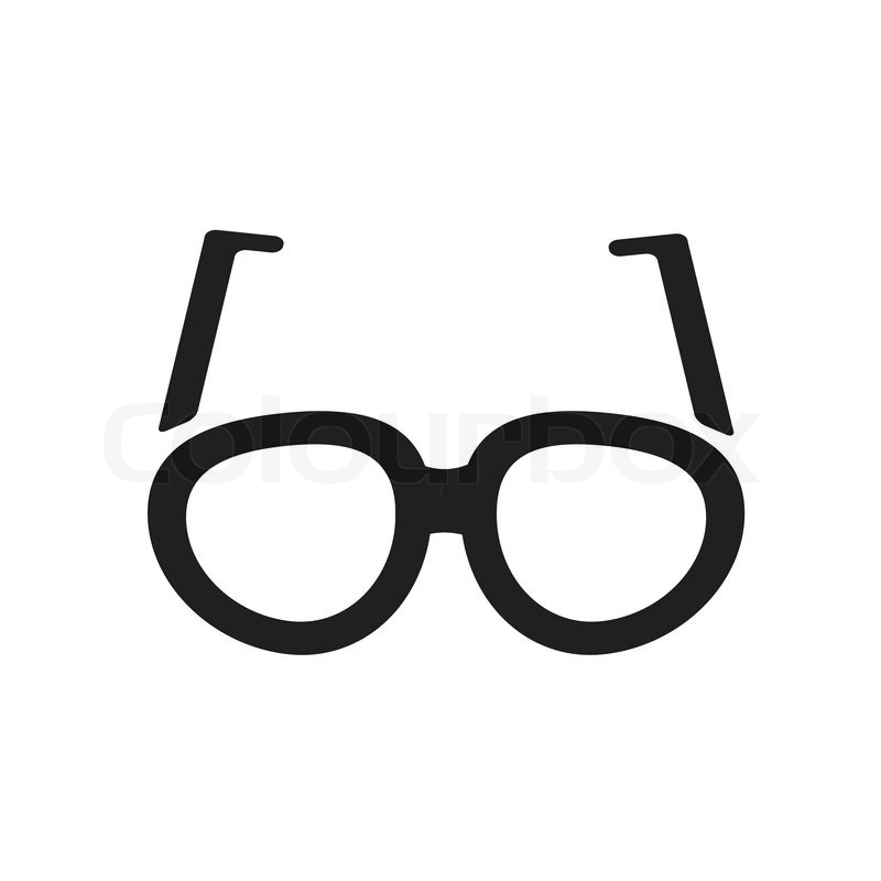 simple vector icon of pair of glasses stock vector