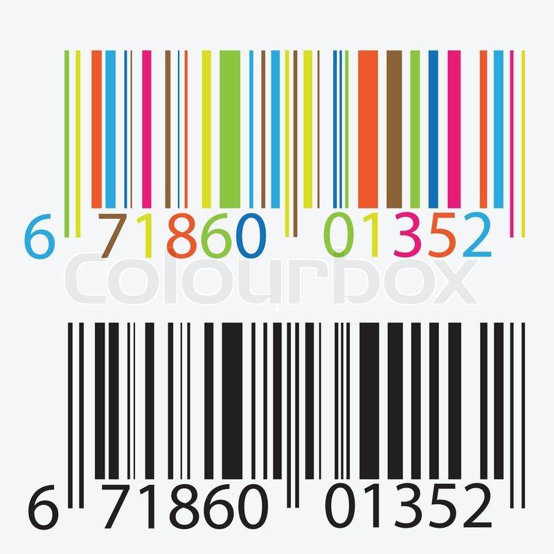 Schwarze und farbige Barcode | Vektorgrafik | Colourbox