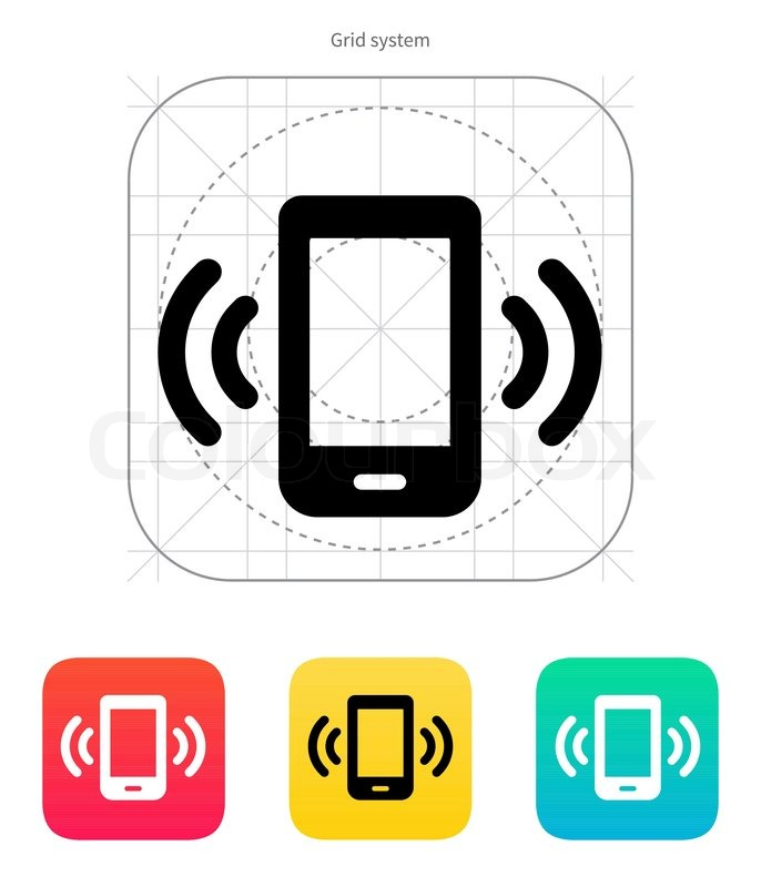 Mobile phone bell icon. Vector illustration. | Stock ...