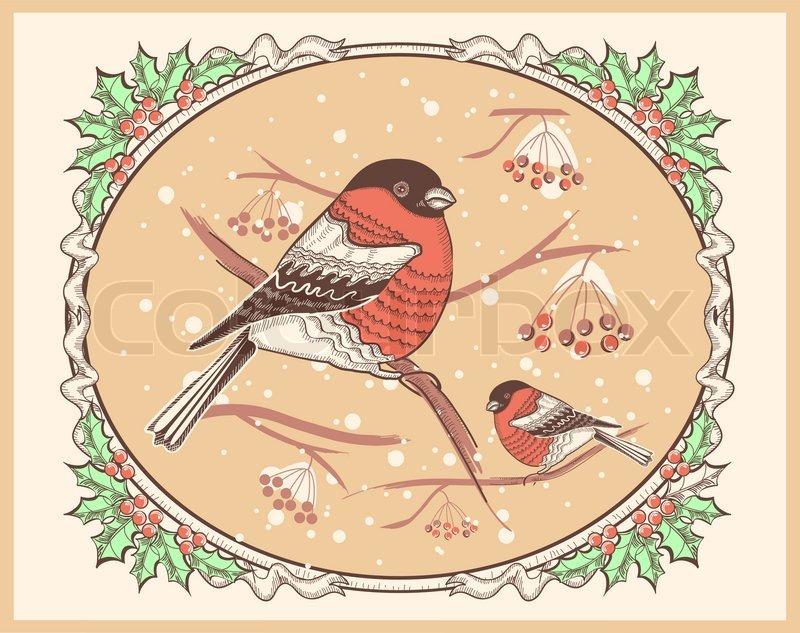 Schön Weihnachten Vintage Karten Galerie - Weihnachtsbilder ...
