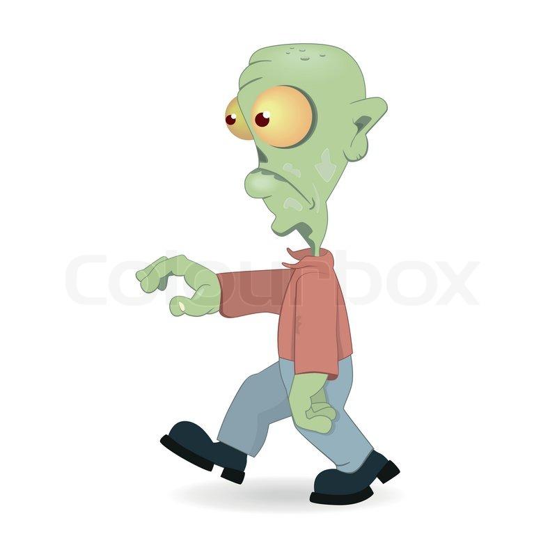 Stock vektor af cartoon zombie