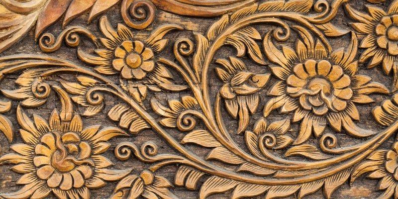 Muster Der Blume Geschnitzt Stockfoto Colourbox
