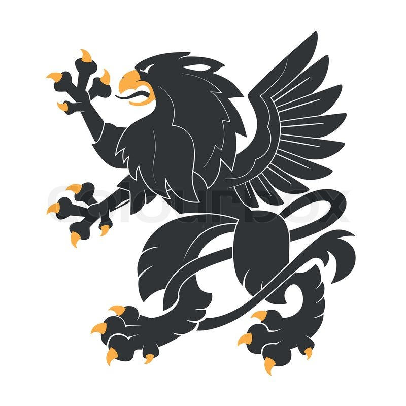 black heraldic griffin stock vector colourbox. Black Bedroom Furniture Sets. Home Design Ideas