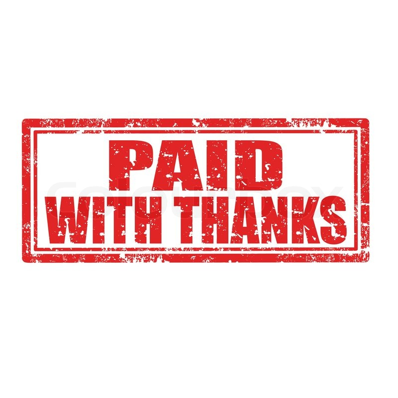 Paid With Thanksstamp Stock Vector Colourbox - Invoice paid stamp