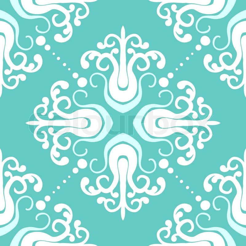 Ornamental Vintage Pattern With Damask Stock Vector Colourbox