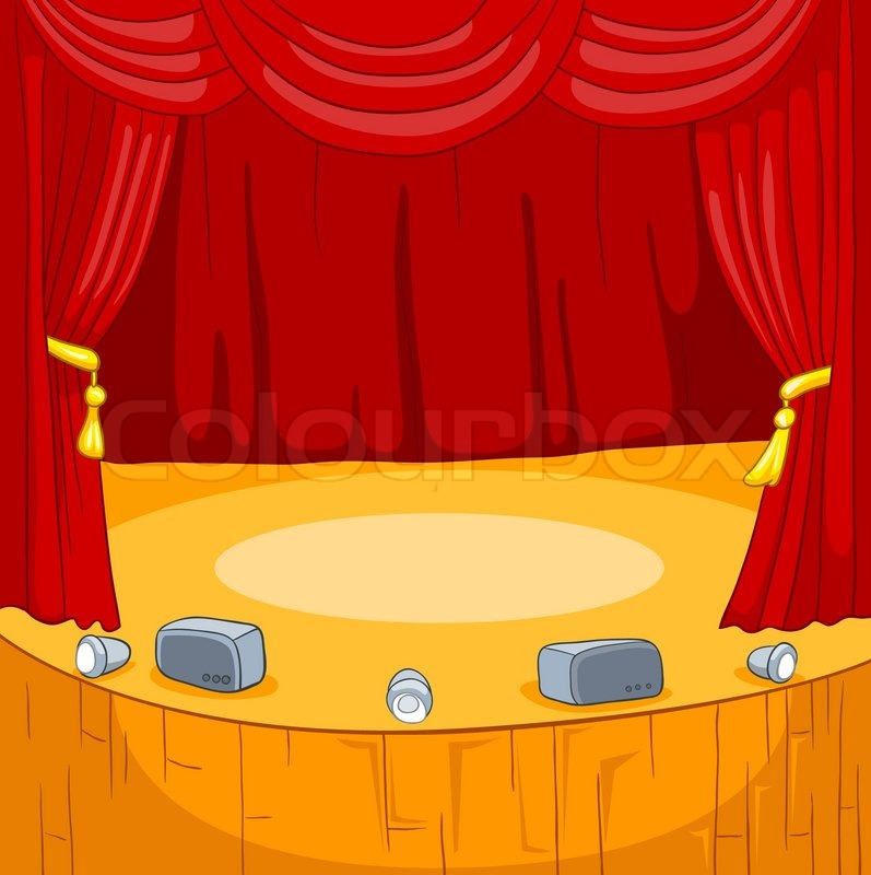 Theater Stage Cartoon Stock Vector Colourbox