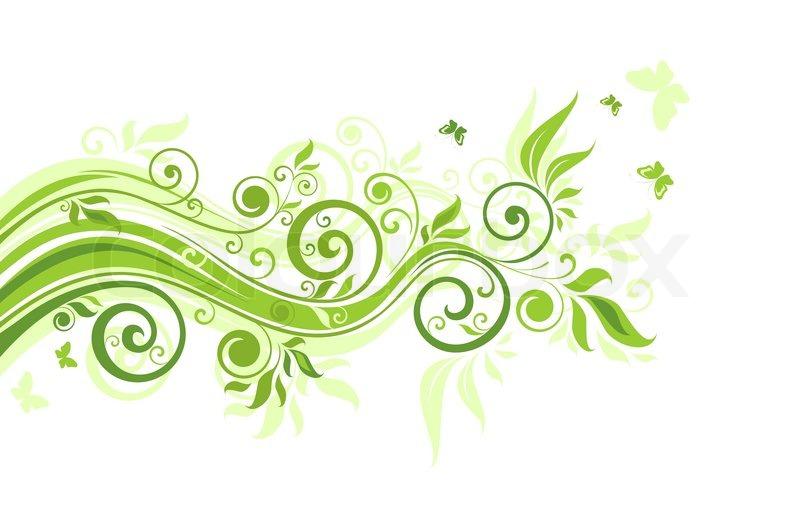 Floral green border raster copy stock photo colourbox altavistaventures Images
