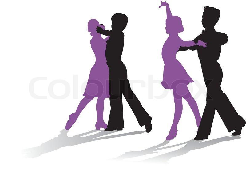 Ballroom Dancing Silhouette Vector Detailed silhouettes o...