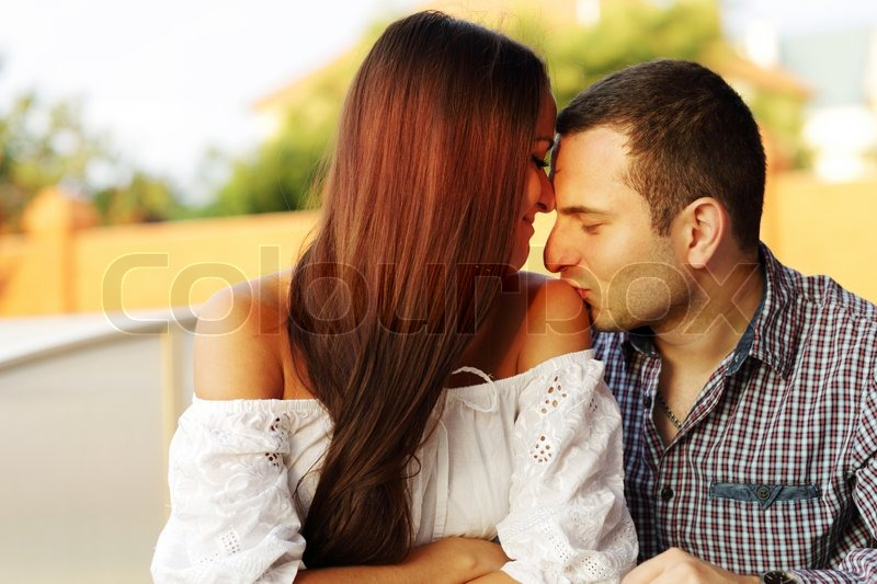 lovely young romantic couple stock photo colourbox