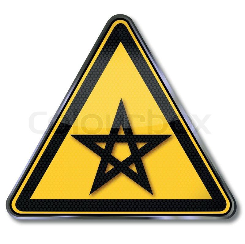 Schild fünfzackigen Stern und Pentagramm | Vektorgrafik | Colourbox