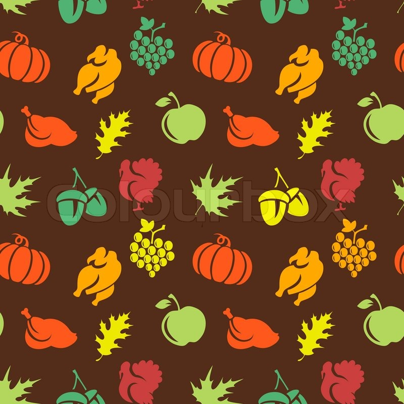 Thanksgiving seamless pattern | Stock vector | Colourbox