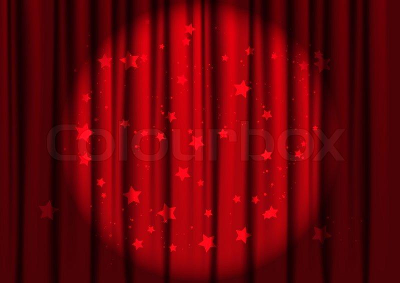 røde gardiner Røde gardiner med lys | stock vektor | Colourbox røde gardiner