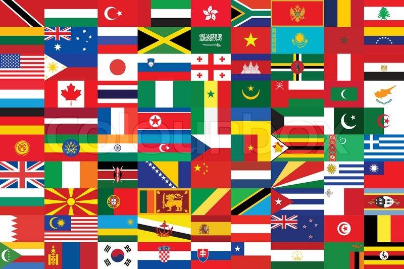 Sømløs baggrund med nogle af verdens ... | Stock vektor | Colourbox
