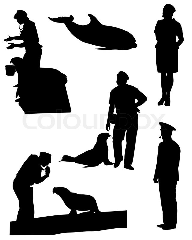 Collection Of Silhouettes Of People ...