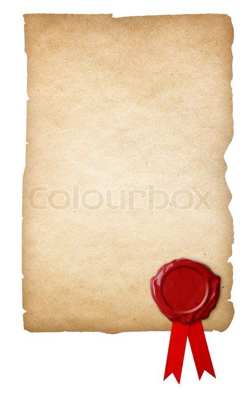 altes papier mit wachs