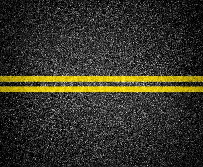 Asphalt road marking top view | Stock Photo | Colourbox