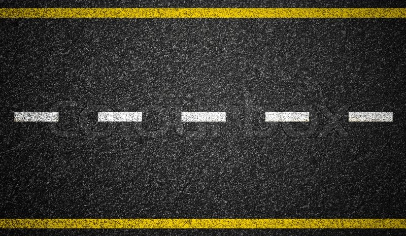 Asphalt highway with road markings background | Stock ...