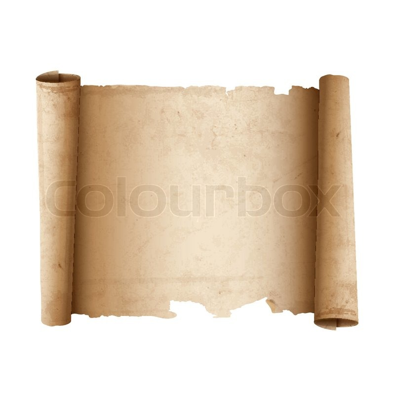 Ancient Scroll: Ancient Scroll Paper. Vector Eps 10