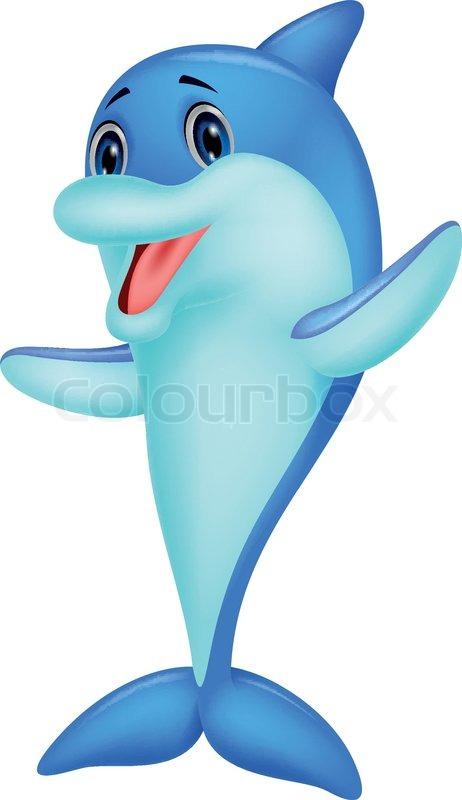 cute dolphin cartoon | stock vector | colourbox