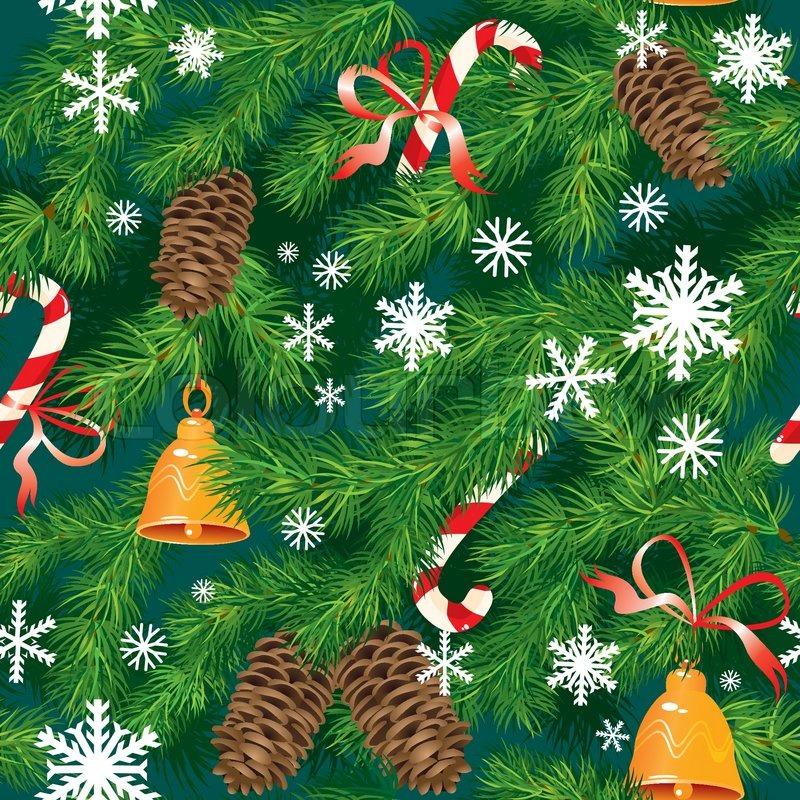 Tannenbaum Muster.Weihnachten Und Neujahr Hintergrund In Stock Vektor Colourbox