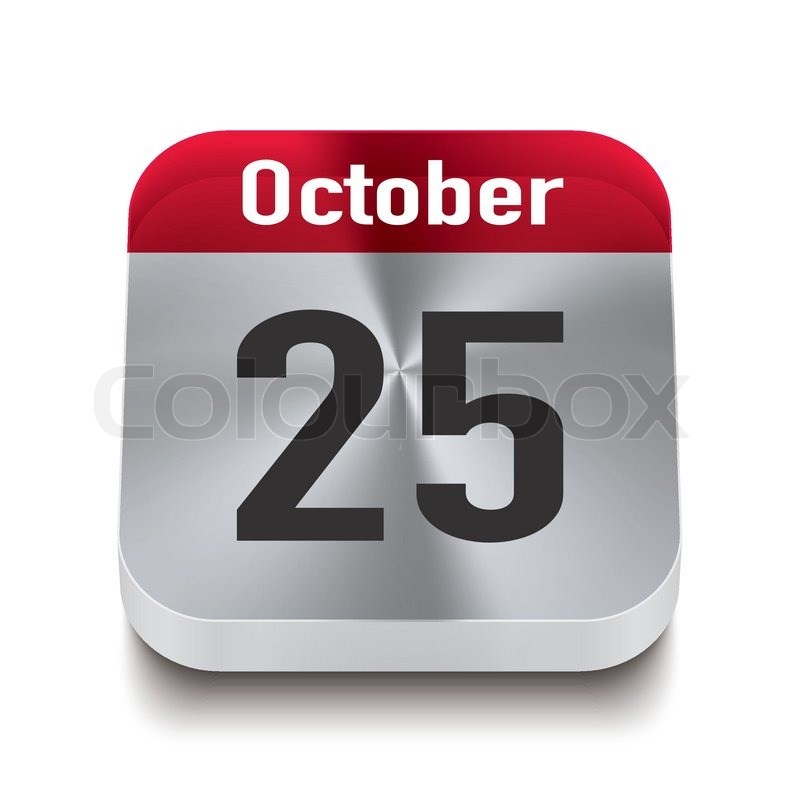Transparent Calendar Perspektive Red October 25th