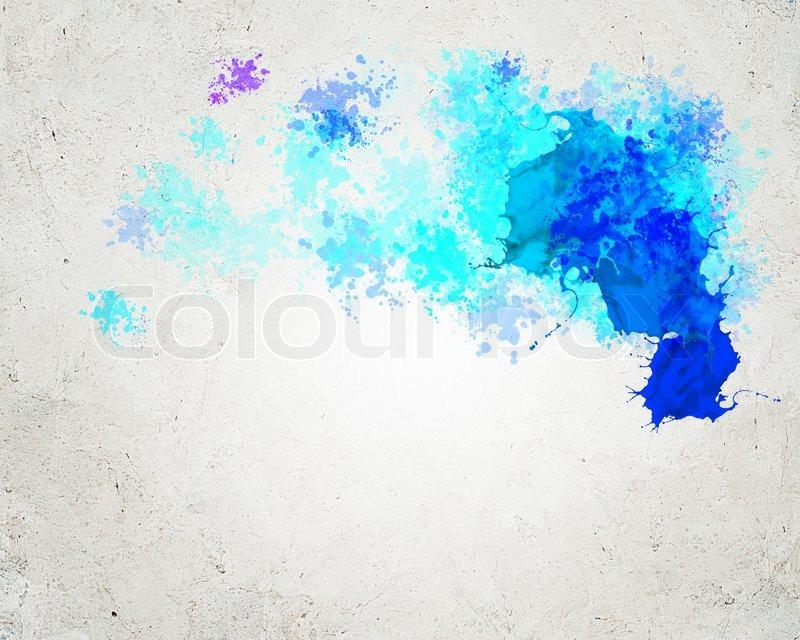 Как сделать на синем фоне