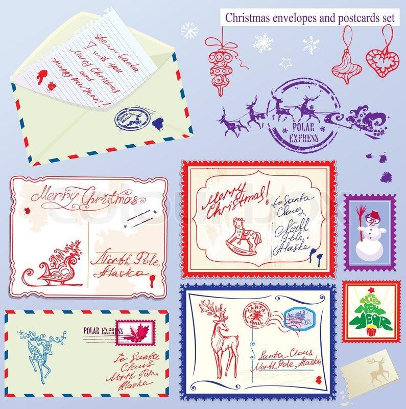sammlung von weihnachts briefumschl ge postkarten. Black Bedroom Furniture Sets. Home Design Ideas