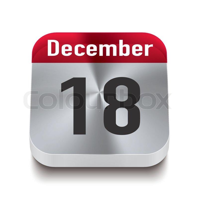 stock vector of transparent calendar perspektive   red   december