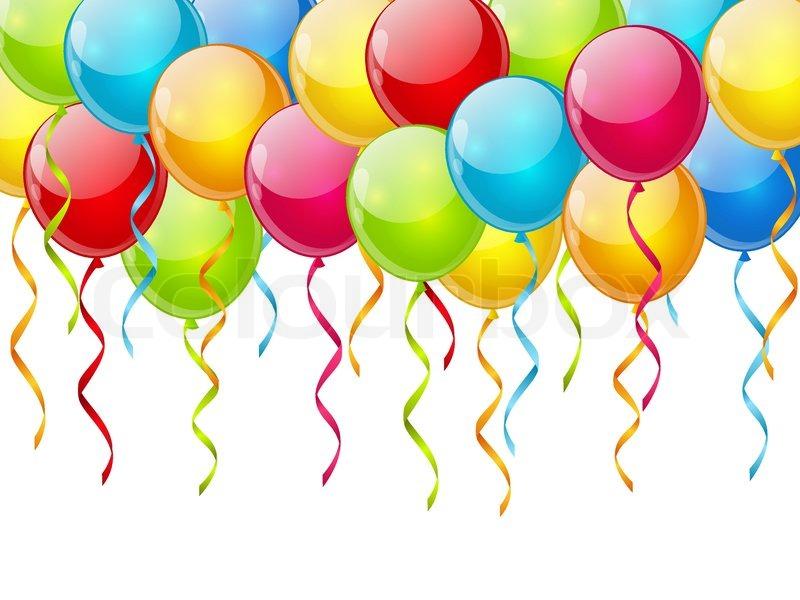 Birthday Balloon Images Part - 35: Birthday Balloon Background, Vector