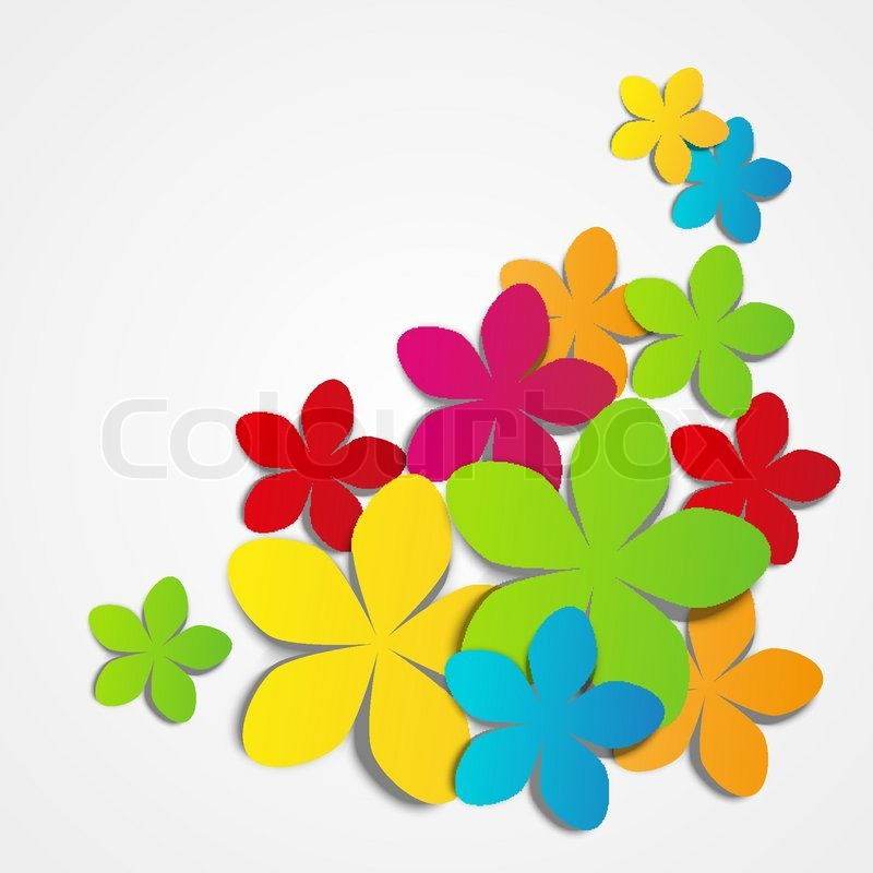 Vector illustration of color paper flowers stock vector colourbox mightylinksfo