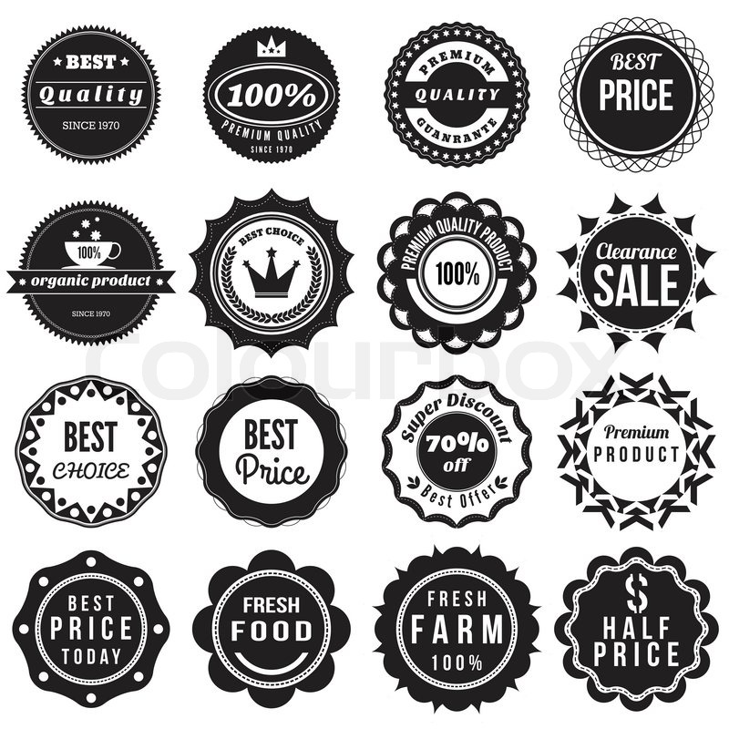 Product Vintage Labels Template Set | Stock Vector | Colourbox