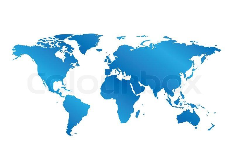 Bla Kort Over Verden Med Gradient Stock Foto Colourbox
