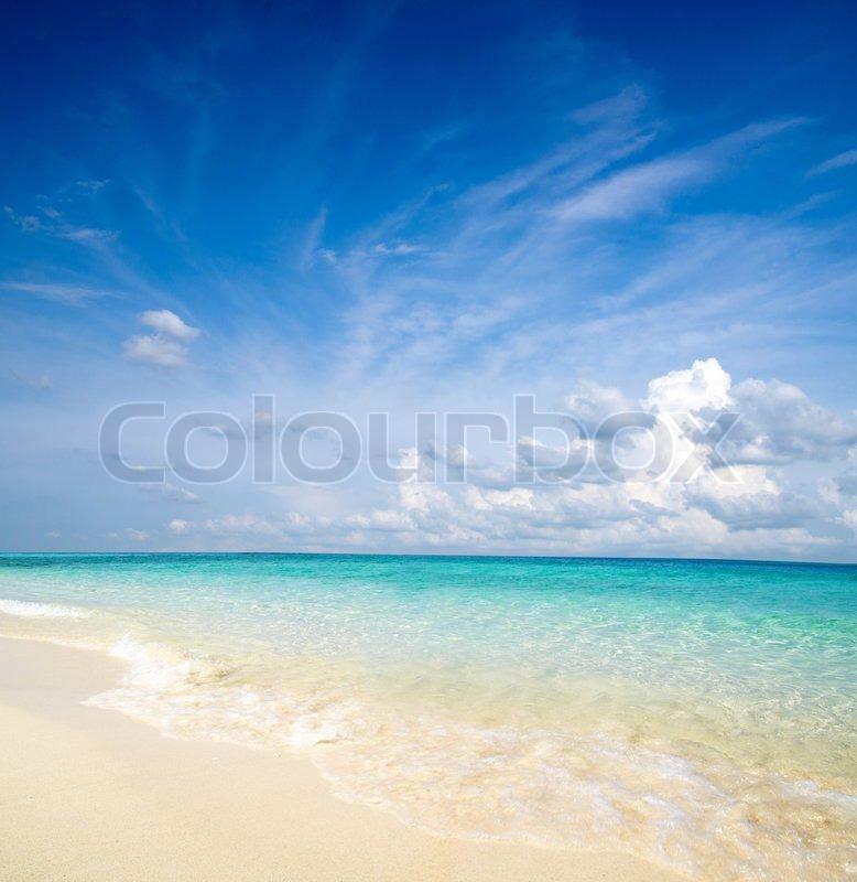 Beautiful beach and tropical sea, stock photo
