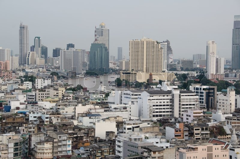Bangkok City scape from above, stock photo
