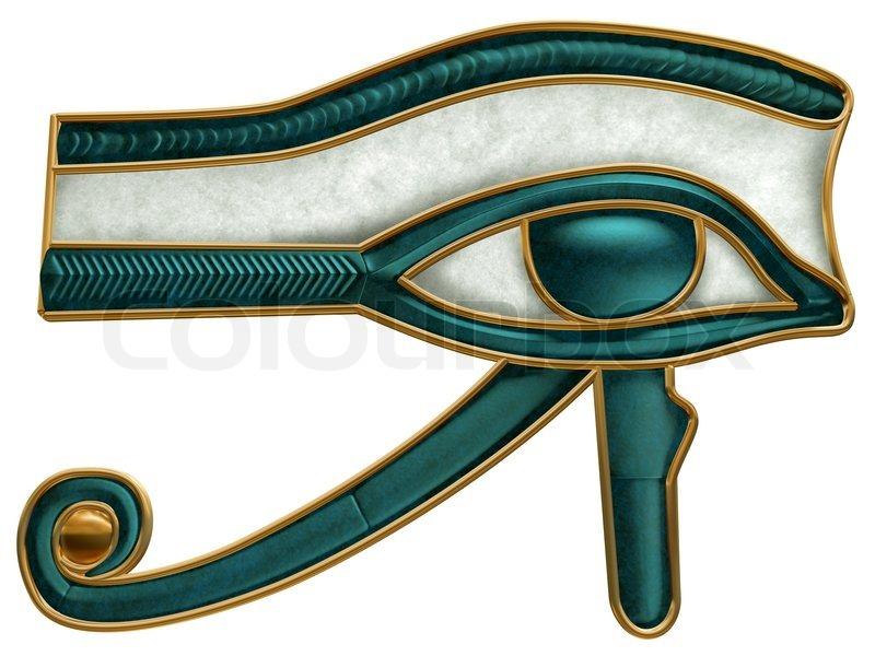 Illustration Of The Ancient Egyptian Eye Of Horus Symbol Stock