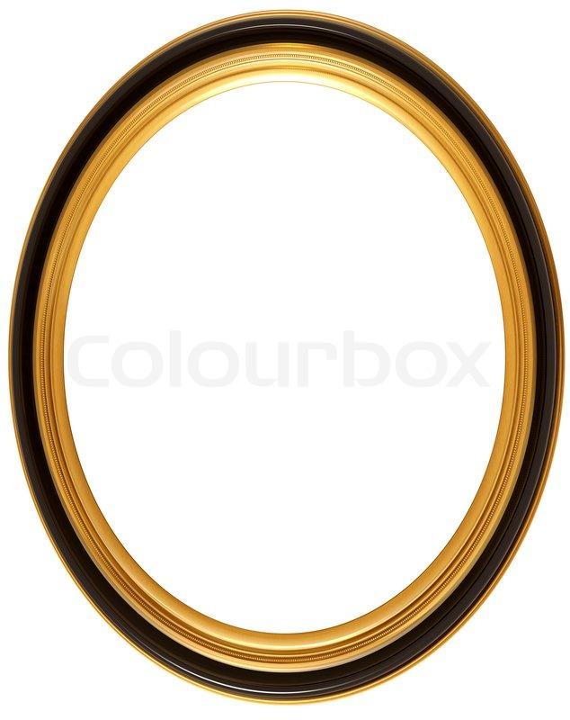 Oval antiken Bilderrahmen | Stockfoto | Colourbox
