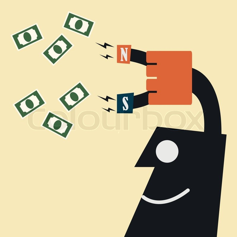 Attracts money with a magnet stock vector colourbox - What colour attracts money ...