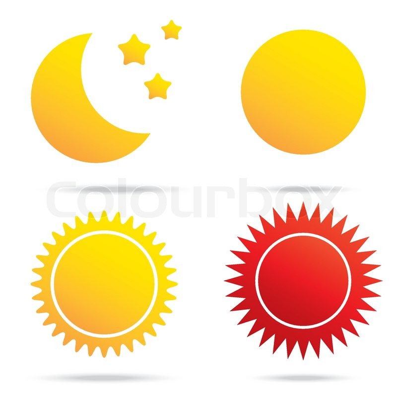 Vector Illustration Of Moon Sun And Star Symbol Stock Vector